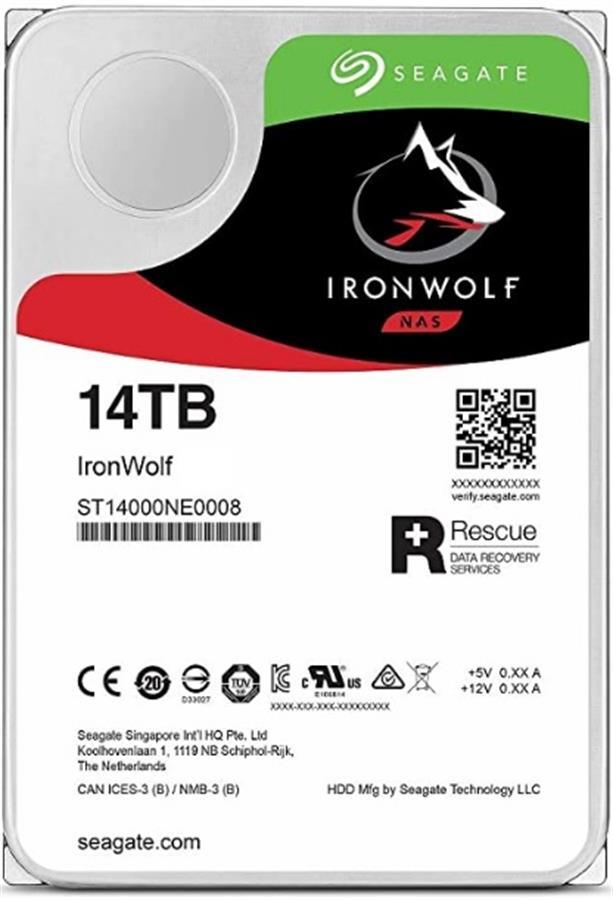 DISCO DURO HDD 14TB SEAGATE IRON WOLF RED NAS