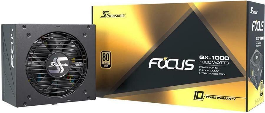 FUENTE 1000W SEASONIC FOCUS GM-1000 80+ GOLD FULL MODULAR