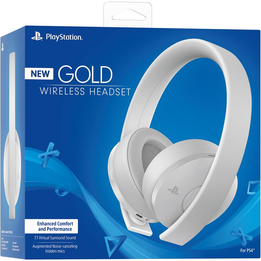 Auricular Gamer | Sony Playstation Gold 7.1 White Wireless