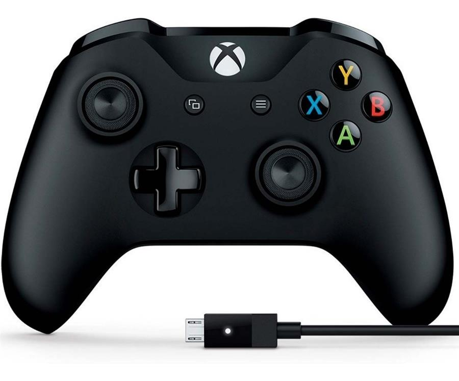 Control Inalámbrico Xbox One Negro + Cable Windows