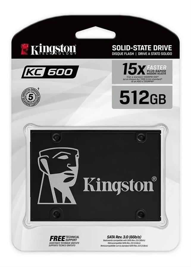 Disco Sólido SSD 512GB KC600