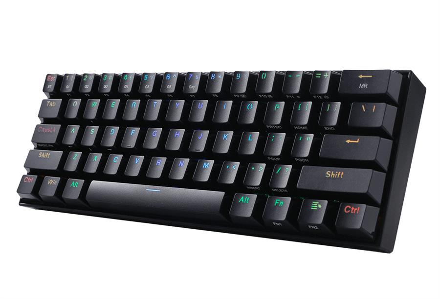 Teclado Gamer | Redragon Draconic Black K530 Mecánico RGB Switch Brown
